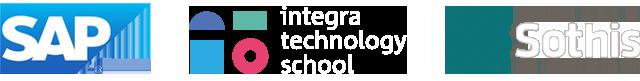 logos SAP, UADIN Business School y Sothis